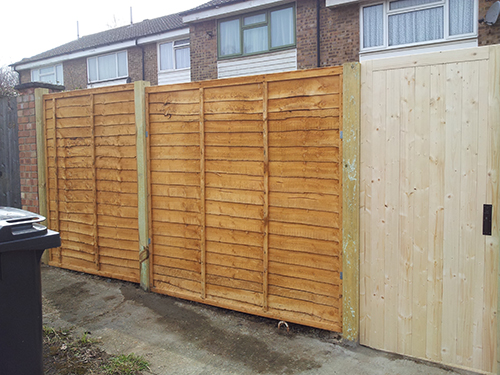 NEW FENCE AND GATE - DONT FORGET TO TREAT YOUR NEW FENCES WITH WOOD PRESERVER