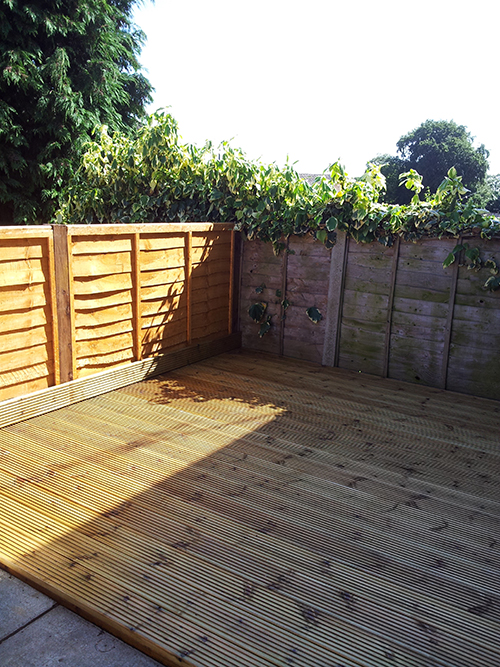 AFTER A FEW DAYS THERE IS NEW FENCING AND DECKING